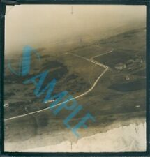 Orig WW2 Photo Operation Bodyguard D Day deception Ariel View of Coastline