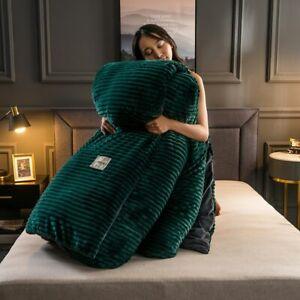 Magic Velvet Quilt Duvet Cover Bedding Set Winter Warm Thickened Fleece Solid