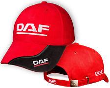 DAF Red Black Baseball Cap Embroidered Auto Logo Adjustable Hat Mens Womens