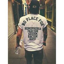 No Place For Homophobia Fascism Sexism Racism Hate T Shirt Love Zoella Celine