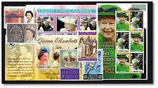 Königin Elizabeth II./ Briefmarkenpaket / 100 Briefmarken und Blocks, postfrisch