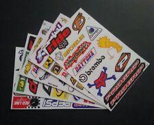 Paquete De 5 hojas de cinco de BMX Moto X deporte del motor Rally Racing Pegatinas: - Lote A