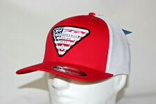 Columbia PFG USA Stateside Fitted Flexfit Mesh Hat Cap in Red L/XL Free Decal