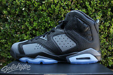 NIKE AIR JORDAN 6 VI RETRO GS SZ 5 Y BLACK COOL GREY WHITE 384665 010
