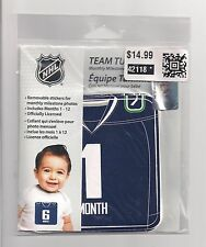 TEAM TUMMIES NHL Vancouver Canucks Monthly T-Shirt Hockey Stickers for Baby