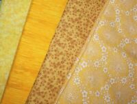 Yellow Color Fat Quarter #1 | Mask Fabric | Precut Quilting Cotton | Set of 4