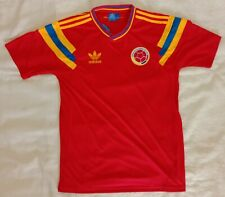 Colombia 1990 world cup retro vintage classic soccer team home jersey club tw