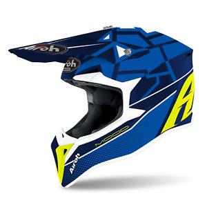 Airoh Wraap Off Road Enduro Mx Helmet Mood Blus Gloss M L X Large Acu Approved
