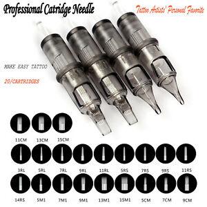 Universal 20 Cartridges Needle Professional Disposable Tattoo Cartridge Needles