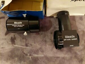 MEADE TELESCOPE ASTROPHOTOGRAPHY OFF-AXIS GUIDER BODY ONLY&VARIABLE TELE GUIDER.