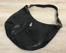 OXUS Black Shoulder Bag W/ Purple Lining