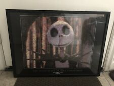 Jack Skellington Exclusive Disney Store Framed Picture! Retired
