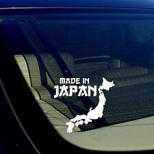 """Made In Japan State JDM Racing Drift Low White Decal Sticker 5"""" Inches"""