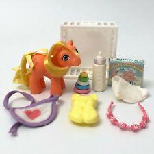 Baby Applejack Complete European/UK/Euro Exclusive Vintage G1 My Little Pony