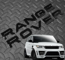 BLACK GLOSS LETTERING FIT RANGE ROVER L405 SPORT L494 P38 P322 FRONT REAR BADGES