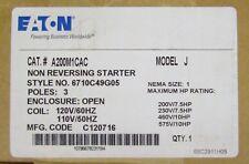 EATON CUTLER HAMMER A200M1CAC  Size 1 A200 Starter 110 120V