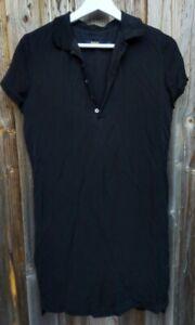 Silk RALPH LAUREN POLO SHIRT DRESS BLACK 100% SILK SIZE 4
