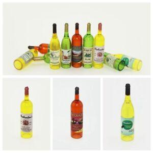 Multicolored Wine Bottles For Dollhouse Miniature L4L2 Super Scale Y8A4 A3Q5