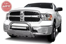 "APU  2009-2018 Dodge Ram 1500 3.5"" Oval Bull Bar Stainless with LED LIGHT BAR"