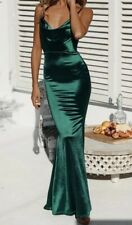 7dff9e9594f4 NEW TIGERMIST GREEN COWL NECK SILKY SATIN MAXI EVENING FORMAL DRESS 6 8 10  12