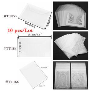 10 Pcs/Lot Cutting Die Clear Stamp Storage Bags Pockets PVC Plastic Sheet DIY