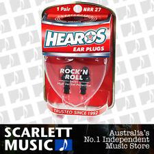 HEAROS Rock N Roll Musician Ear Plugs 1 Pair Reusable - w/ FREE Case