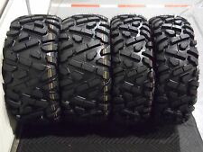 "YAMAHA GRIZZLY 700  25"" QUADKING ATV TIRES SET 4 -25X8-12 25X10-12  BIGGHORN"