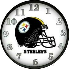 Pittsburgh Steelers Wall Clock  Dorm Decor Football Teams Dorm Room Bedroom NFL