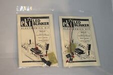 EKI 2099 Kit LED Blinker 1Hz. 555 oscillator New.  2 Electronics Kits included