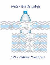 Baby shower water bottle labels, Elephants, Elephant Baby Shower, Bottle Labels