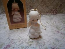 Precious Moments Ornament But Love Goes On Forever Girl Angel/Cloud E5628