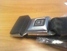 Basic Lap Seat Belt Set - Black in Color. Non-Retractable Seat Belts