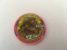 $2.50 PALMS 1977 BELMONT STAKES WINNER SEATTLE SLEW HORSE RACING CHIP SET OF 3