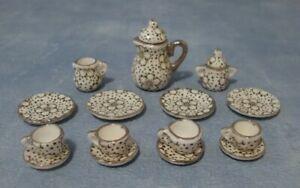 1/12th Scale Dolls House 1930s Style Tea Set.