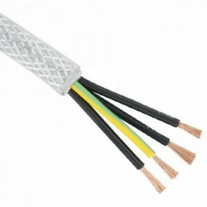 1.5mm 4 Core 3 Phase  SY Cable Flexible in 1m / 1 Metre Lengths