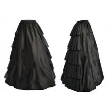 GOTHIC Halter CORSET With LONG SKIRT Waterfull Cake Normal Dress Up Ruffle S-2XL