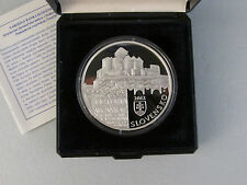 2012 Slovakia Slovak Rep 20 Euro Euros Trencin Castle Silver Proof Coin Czech
