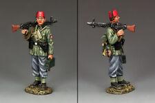 KING & COUNTRY WW2 GERMAN ARMY WS252 HANDSCHAR STANDING MACHINE GUNNER MIB