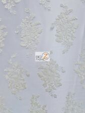 ORACLE FLORAL DRESS LACE FABRIC - Ivory - BRIDAL FASHION PROM GOWN TRENDY