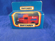 Matchbox Superfast MB- 38 Ford Model A Van Rayner's Crusha in Red & Black Roof