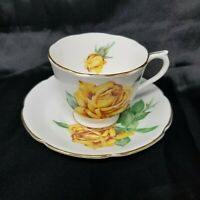 Vintage Collingwoods Golden Rose Tea Cup & Saucer - England - Circa:1937 - 57