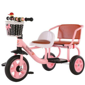 Twin Seats Children's Tricycle Kids Trike 3 Wheels Baby Tricycle Bike Gift