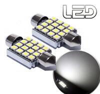 2 Ampoule navette c3w 31 mm 31mm 8 LED SMD Blanc résistance anti erreur  ODB
