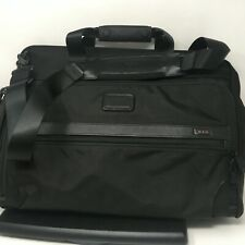 """Tumi Alpha Deluxe 18"""" Framed Carry On Satchel Duffel Bag Black Overnight Luggage"""