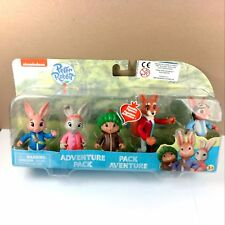 "Nickelodeon Peter Rabbit 5 Dolls Adventure Pack Multi Figure 3"" Nick Jr New toy"