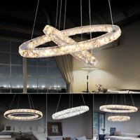 Modern LED Kristall Hängeleuchte Kronleuchter Deckenlampe Pendelleuchte  Lüster