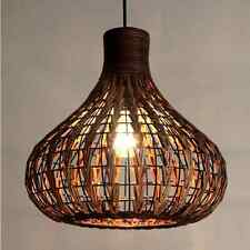 Rattan Ceiling Light Chandelier DIY Bamboo Wicker Lamp Shades Weave Hanging Lamp
