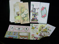 9 VINTAGE ASSORTED GREETING CARDS