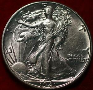 Uncirculated 1941-D Denver Mint Silver Walking Liberty Half
