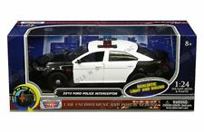 Motor Max 1/24 2013 Ford Police Interceptor w/ Light and Sound Diecast Car 79539